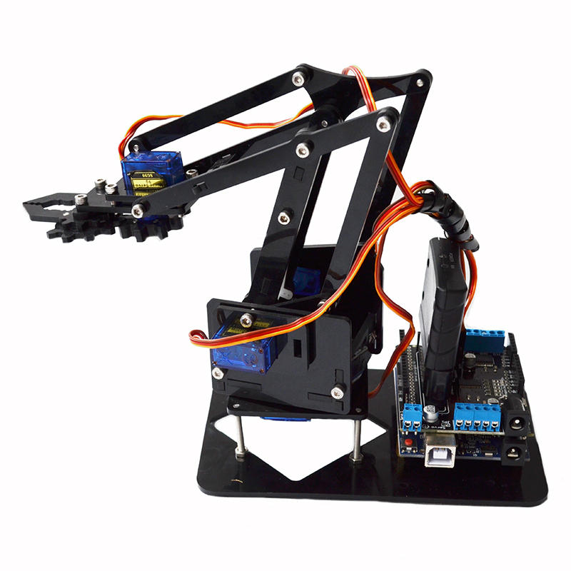 Acrylic Remote Control Robot Arm 4DOF With Arduino PS2 RC Robot Toys