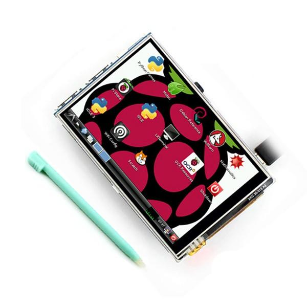 3.5 Inch 320 X 480 TFT LCD Display Touch Board For Raspberry Pi 2 Raspberry Pi 3 Model B With Case