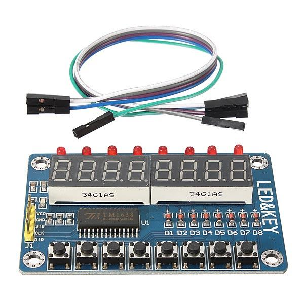 TM1638 Chip Key Display Module 8 Bits Digital LED Tube