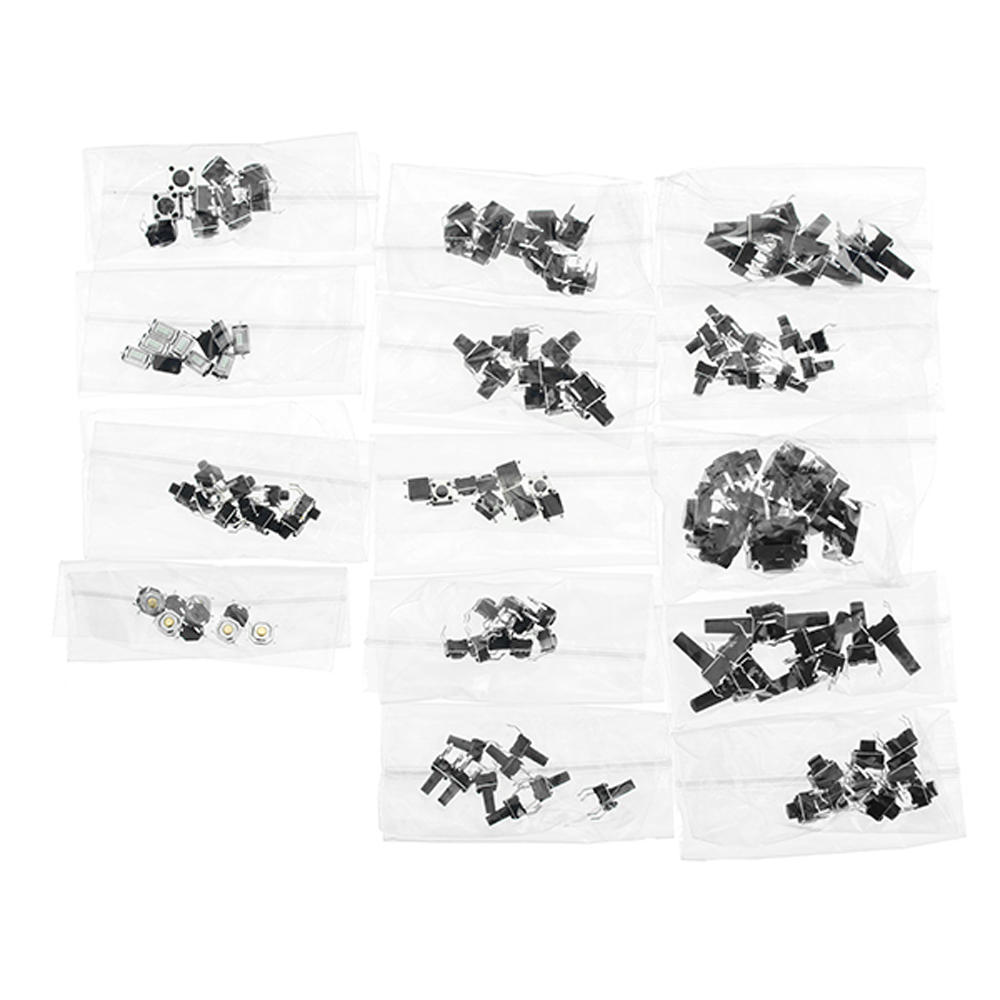 140 pcs Tactile Tact Mini Push Button Switch Packet Micro Switch Bags