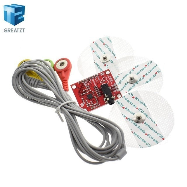 Ecg module AD8232 ecg measurement pulse heart ecg monitoring sensor module kit for Arduino