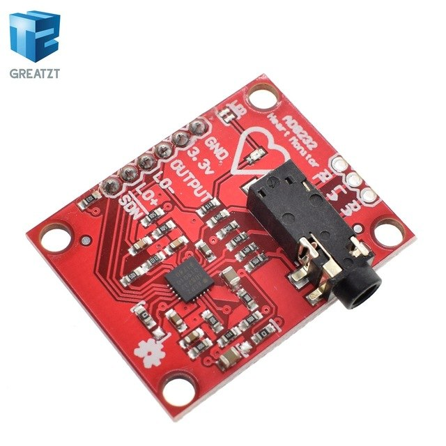 Ecg module AD8232 ecg measurement pulse heart ecg monitoring sensor module kit for Arduino