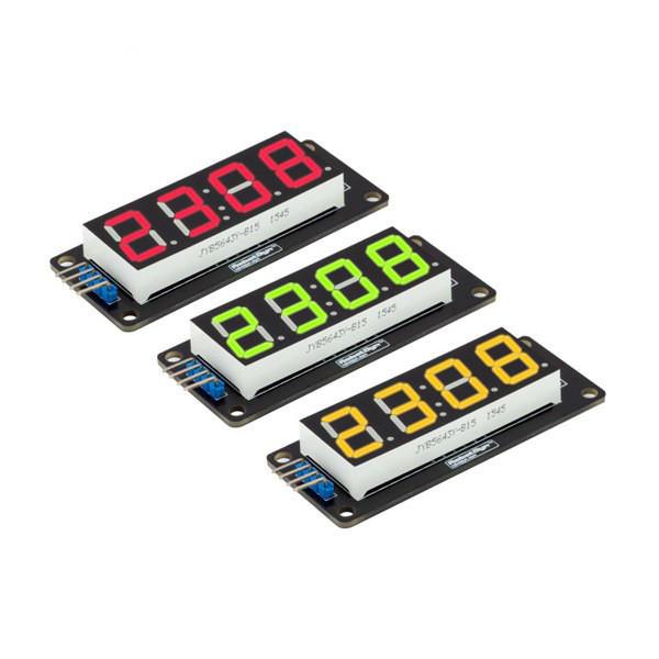 LED Display Blue Yellow White Green Red Tube 4-Digit 7-segments Module