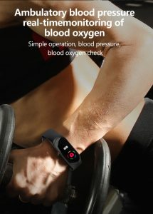 Smart Bracelet Sports Fitness Blood Pressure / Blood Oxygen Monitoring Smart Wristband For Android IOS phone Xiaomi PK mi band 3