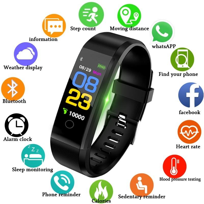 T1 Smart Watch Men & Women Heart Rate Monitor Blood Pressure Fitness Tracker