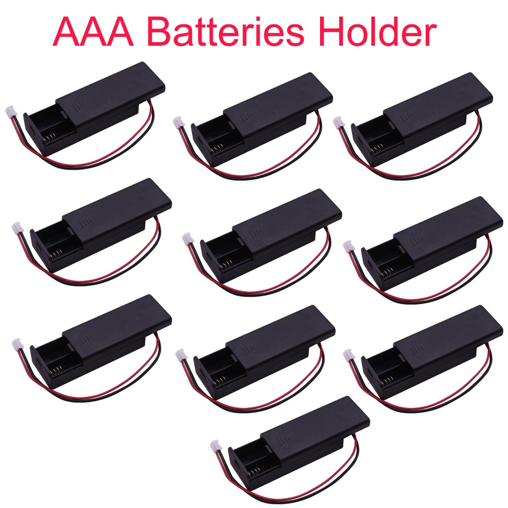 10pcs For micro:bit Battery Holder Case Cover Shell for 2pcs AAA Batteries