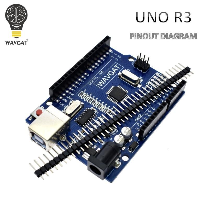 WAVGAT UNO R3 (CH340G) MEGA328P + USB CABLE