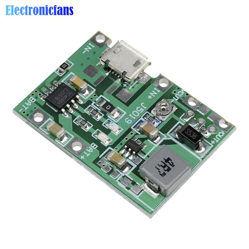 Lithium Li-ion 18650 3.7V 4.2V Battery Charger Board DC-DC Step Up Boost Module Integrated Circuits