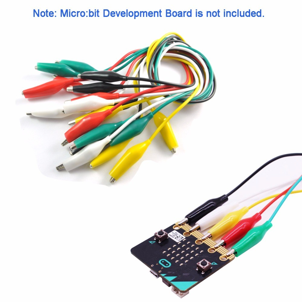 10pcs/lot microbit Alligator Clips with Wire.