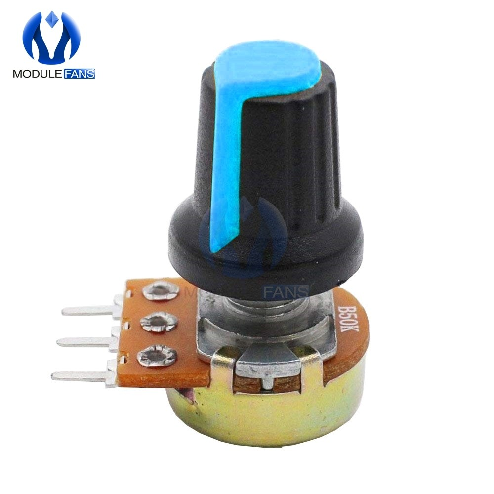 5PCS AG2 A-2 WH148 Linear Taper Rotary Potentiometer With Knob Cap