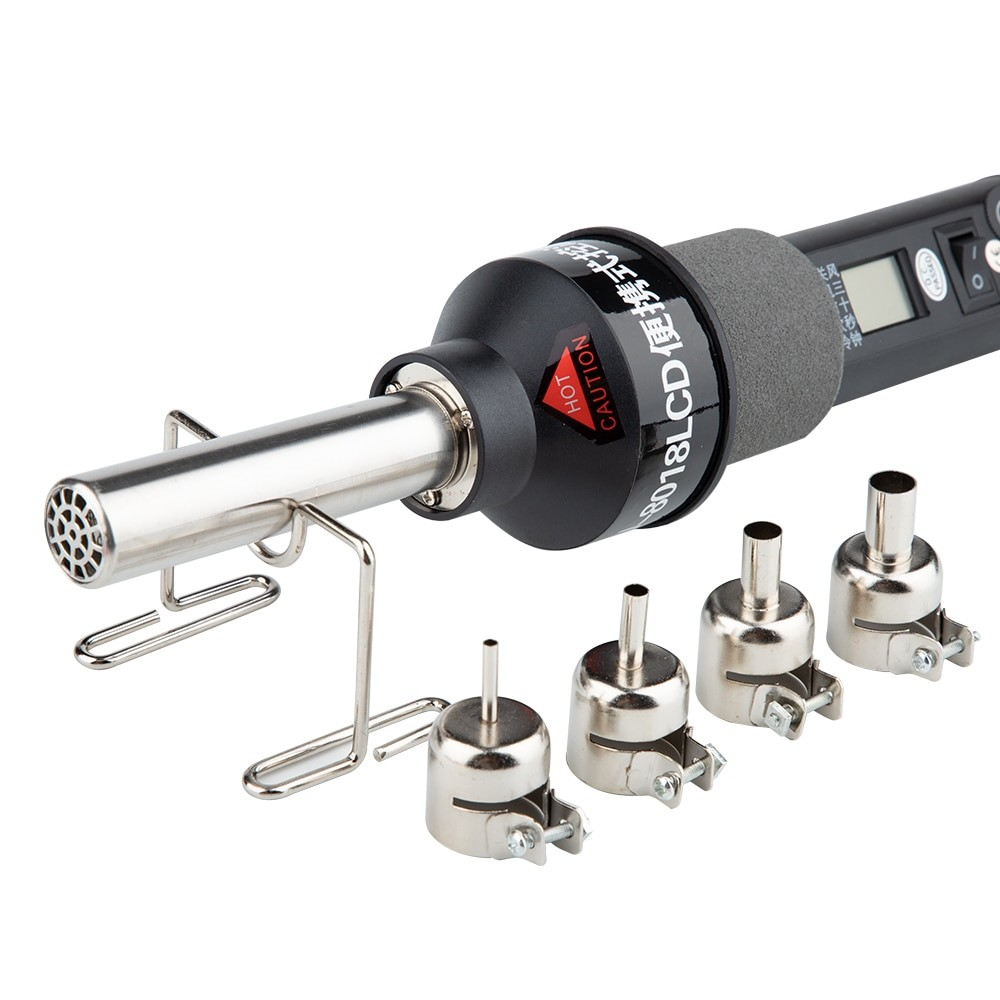 450 Degree LCD Adjustable Electronic Heat Hot Air Gun For Desoldering Soldering Station