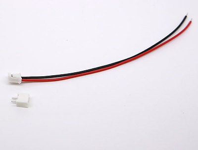 50 SETS Mini Micro JST 2.0 PH 2-Pin Connector plug with Wires Cables 120MM