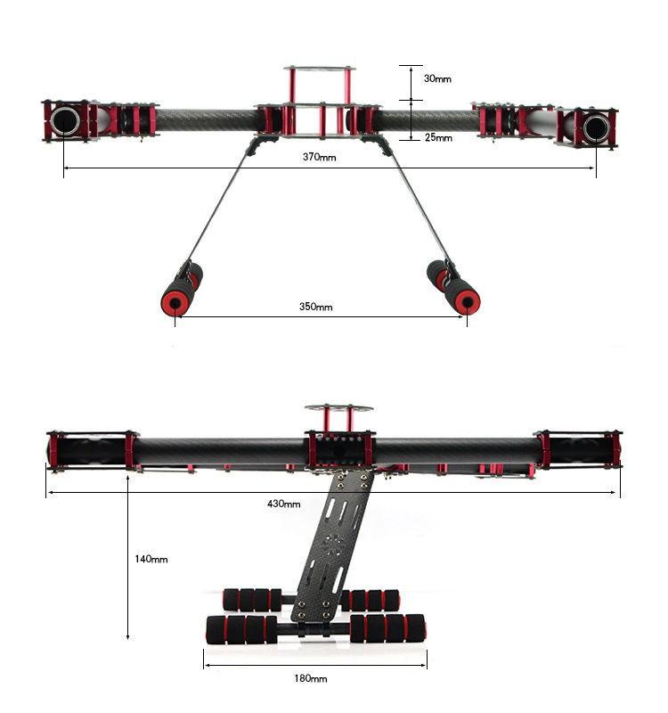Quadcopter Frame 500mm Little Inspire Carbon Fiber Alien Multicopter
