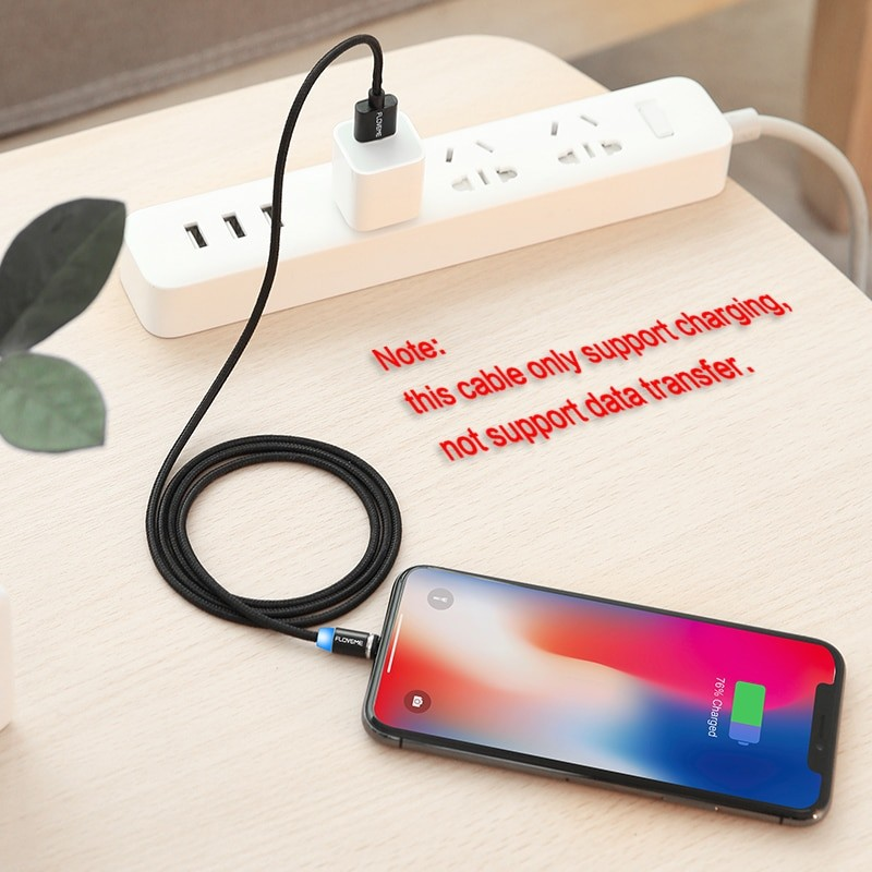 Magnetic Micro USB Cable 1m Braided Mobile LED Type C