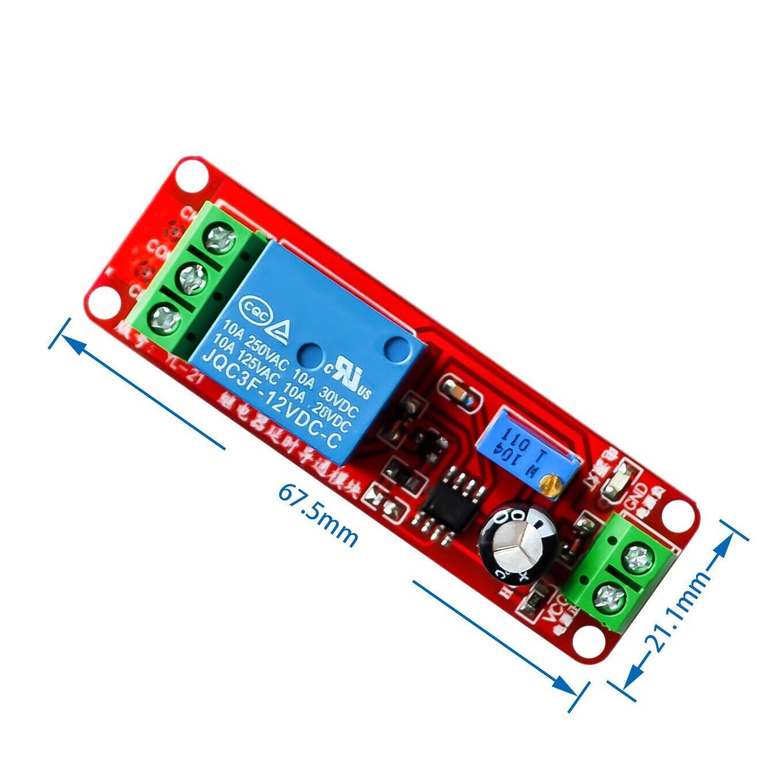 DC 12V NE555 Timer Switch Adjustable Module