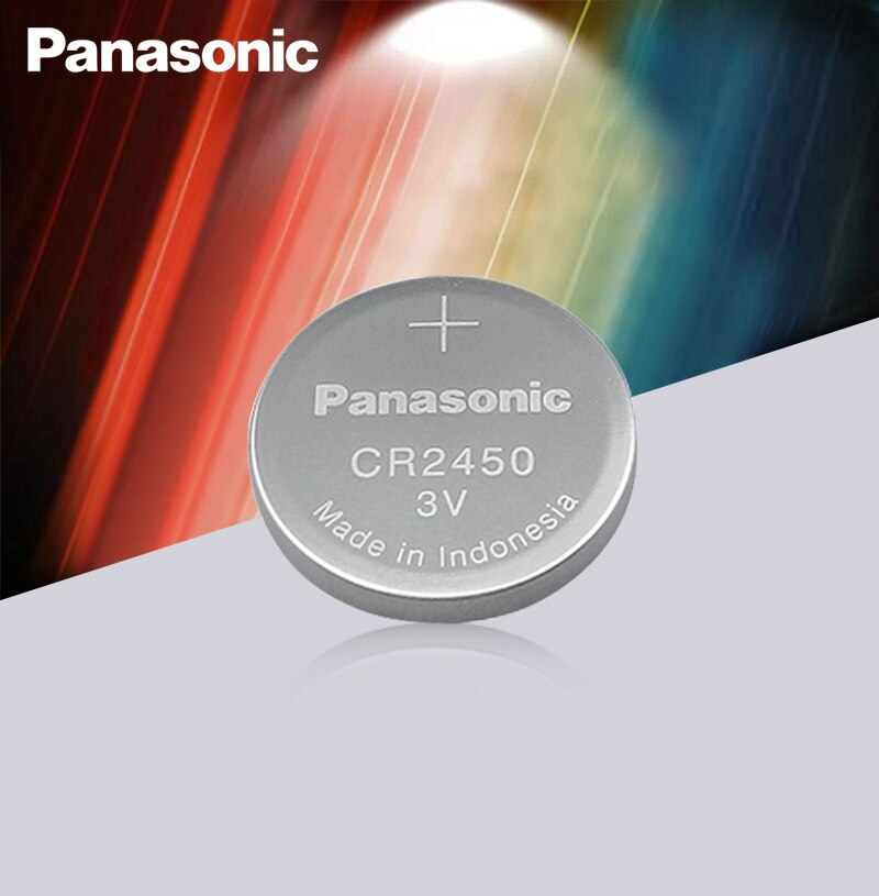 2PC Panasonic CR2450 3V Lithium Button Cell Battery