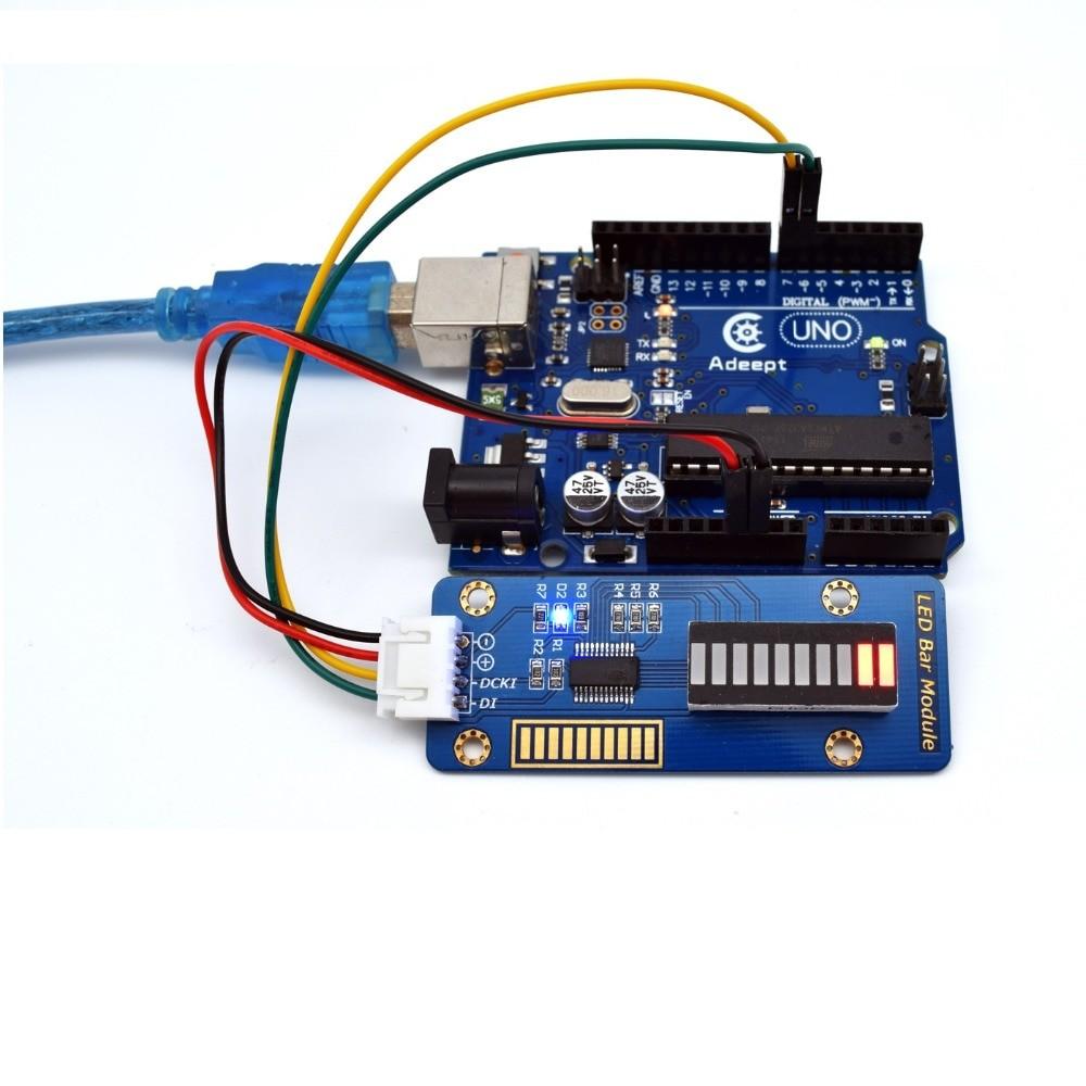 10 Segment Led Bar Graph Module for Arduino / Raspberry Pi