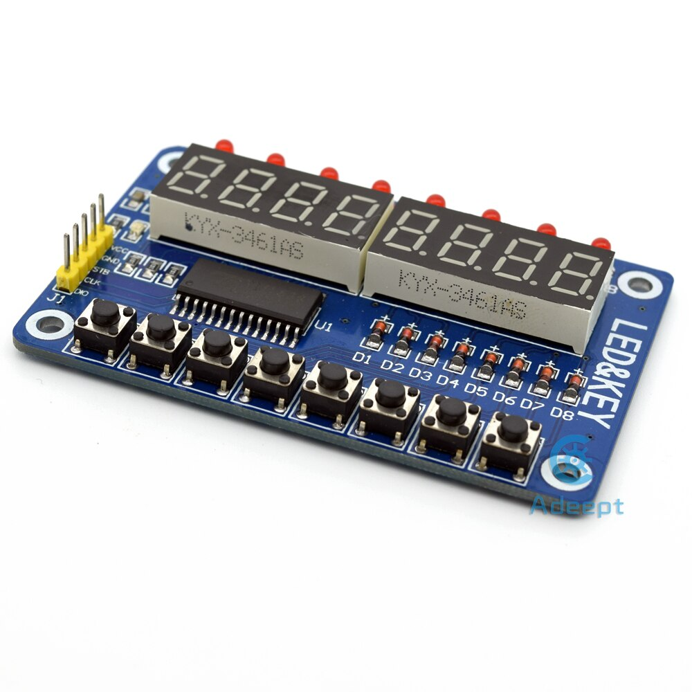 TM1638 8 Bit Digital LED Tube Module