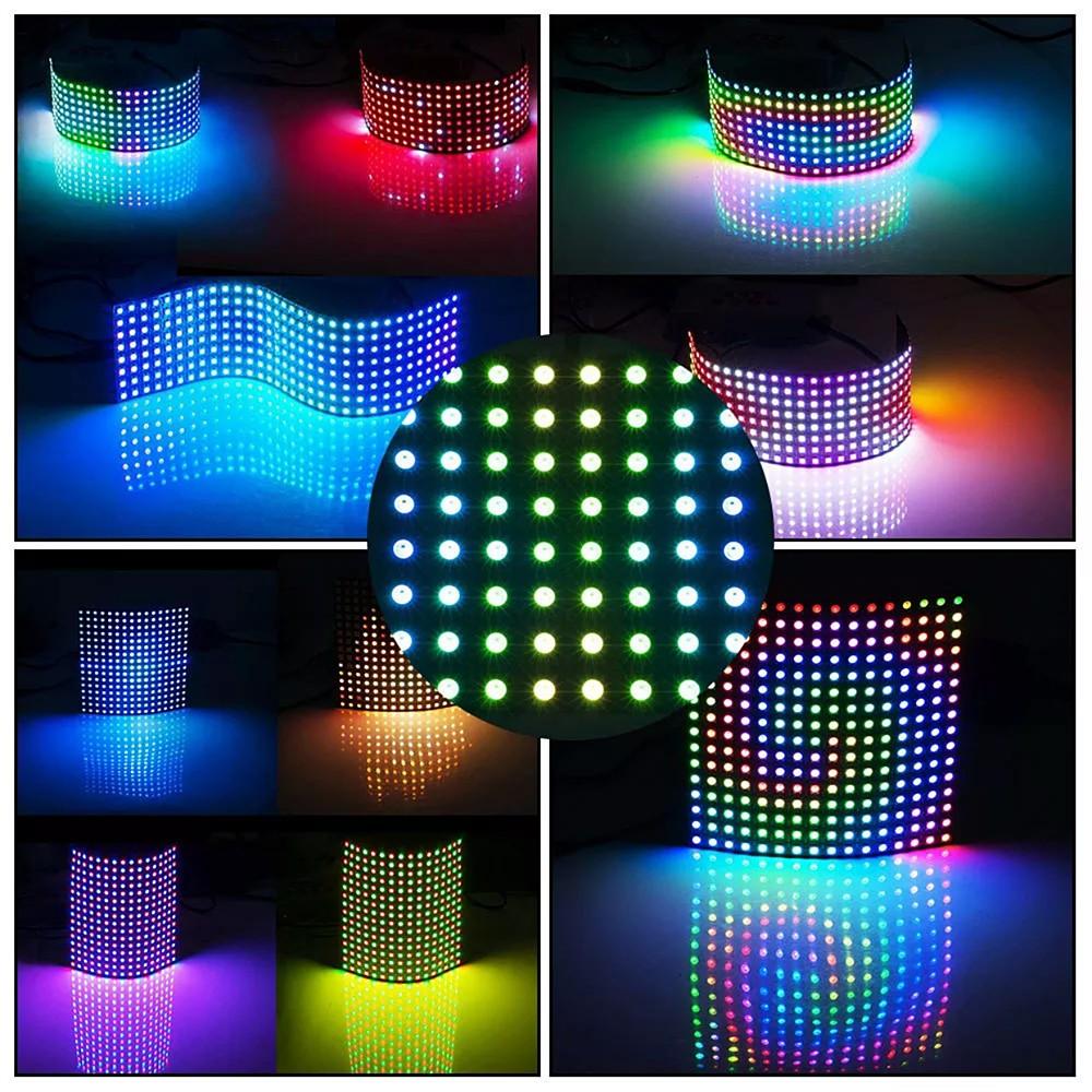 WS2812B LED Digital Flexible light Display Board