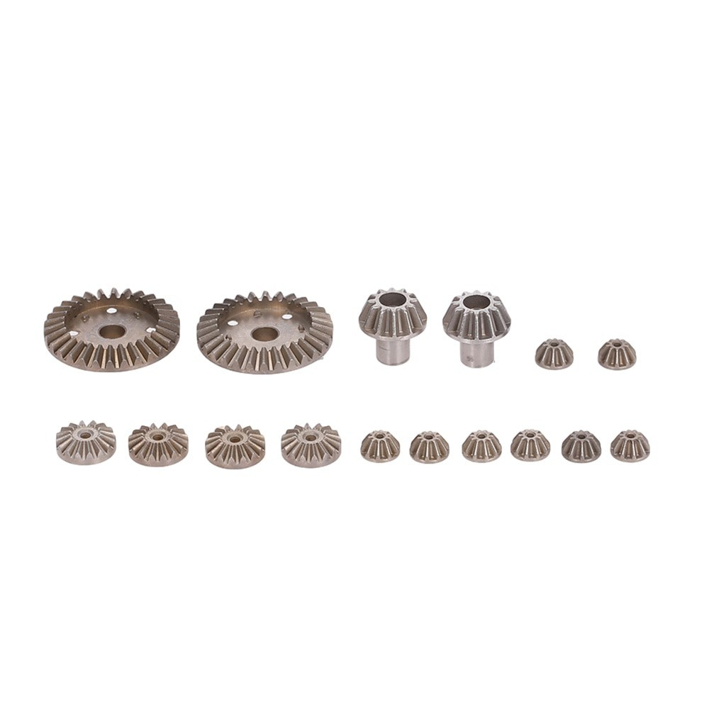 02 Pcs Main Metal Straight-Cut Gears