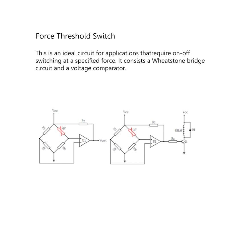 RP-C18.3-ST Flexible Thin Film Force Sensor