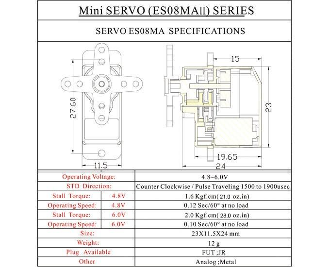 EMAX ES08MA II 12g Servo