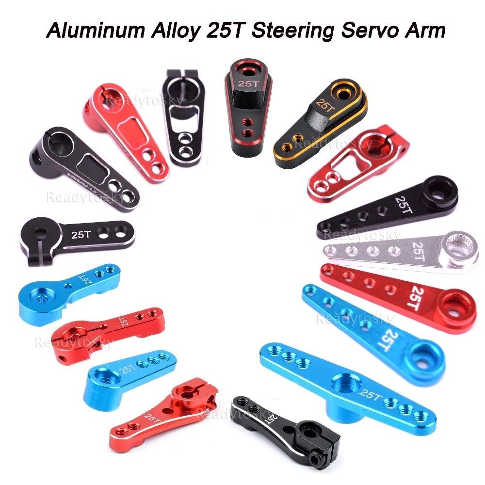 Aluminum Alloy 25T Steering Servo Arm Horn Black/Red/Blue Color for RC Car Crawler Large Torque Digital Coreless Servo parts