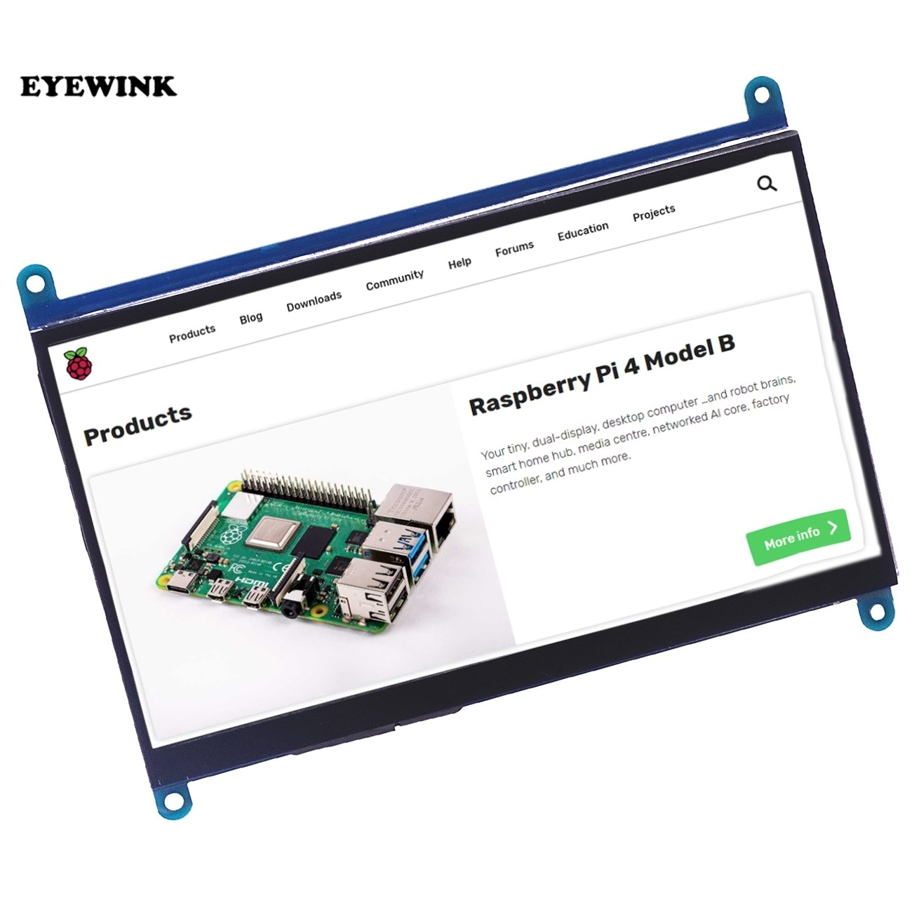 7 inch 1024*600 IPS Capacitive Touch TFT LCD Screen