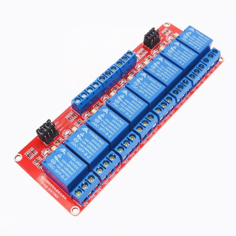 24V 8 Channel relay control panel PLC