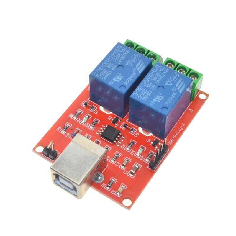 DC 5V 2 Channel USB Relay Module