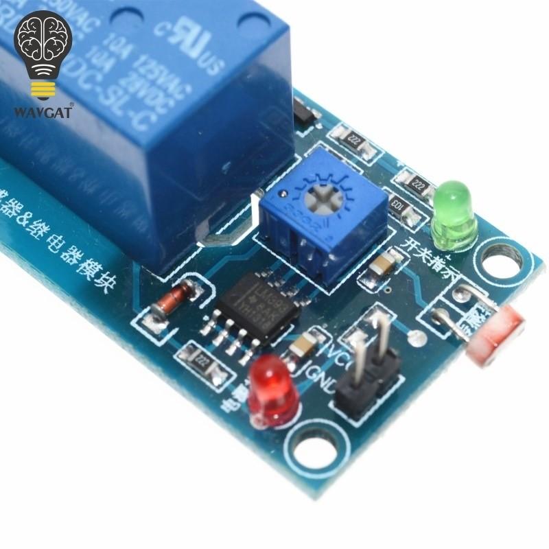5V 12V Light Detection Photosensitive Sensor Board Relay Module
