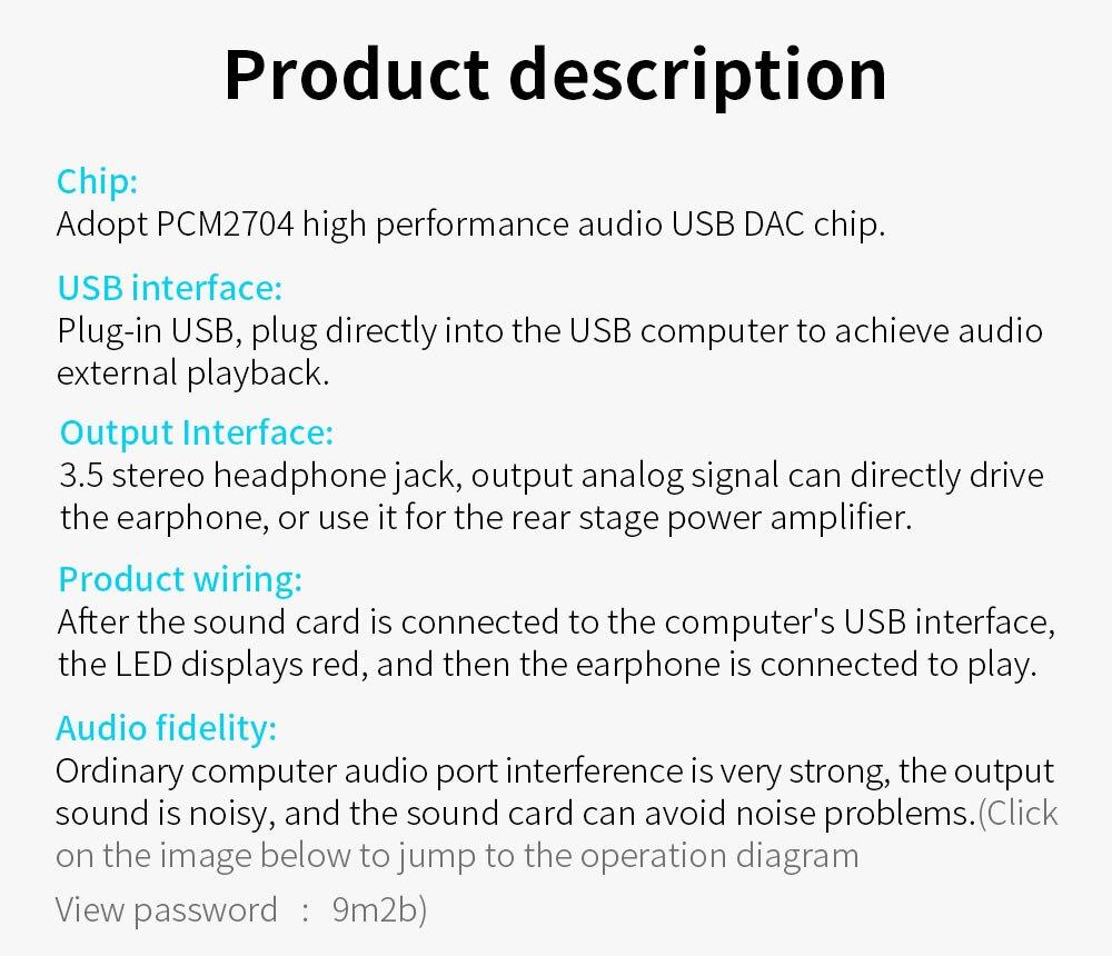Mini PCM2704 USB Audio Sound Card