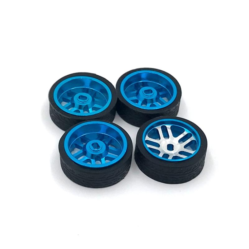 4Pcs Metal mini-z RC Car Wheel