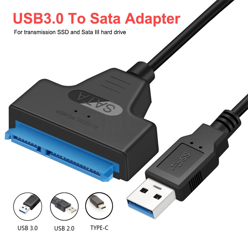USB SATA 3.0 Cable Adapter UP To 6 Gbps Support 2.5 Inch External SSD