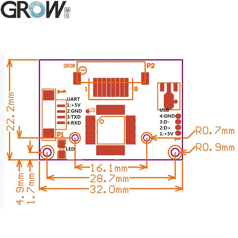 R304 Fingerprint Scanner Sensor Module With Free SDK