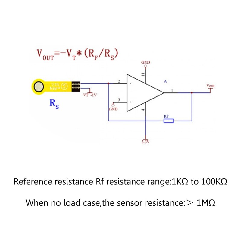 0-200g Thin Film Pressure Flexible Force Sensitive Sensor