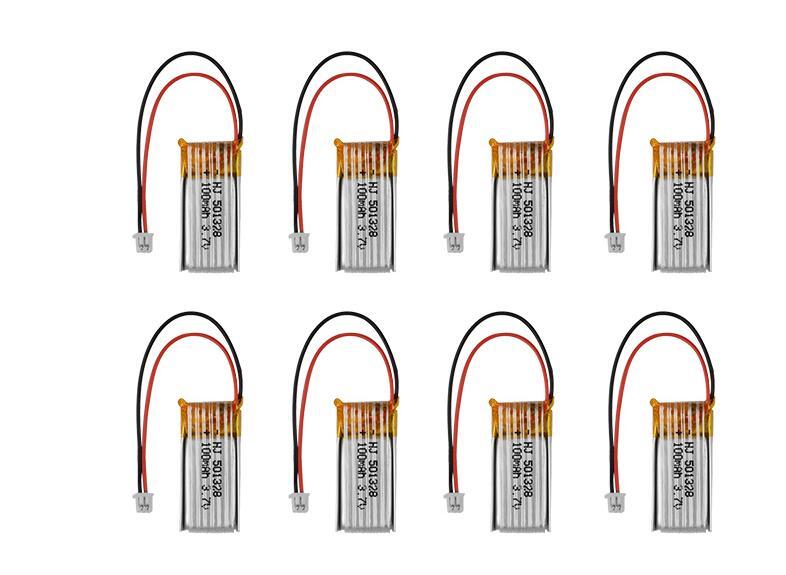 Mini White Plug 3.7V 100mAh RC Lipo Battery