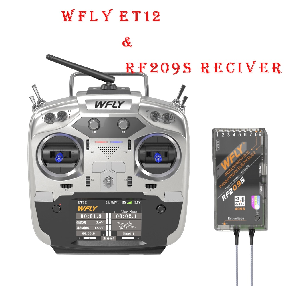 WFLY ET12 2.4GHz 12CH Radio Transmitter/Remote Controller with Receiver
