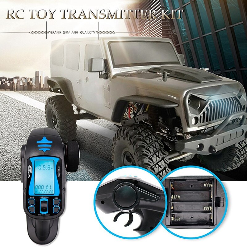 Turbo Tb-Tx2 2.4Ghz 7Ch Radio Remote Control Transmitter With Receiver For Rc Vehicle