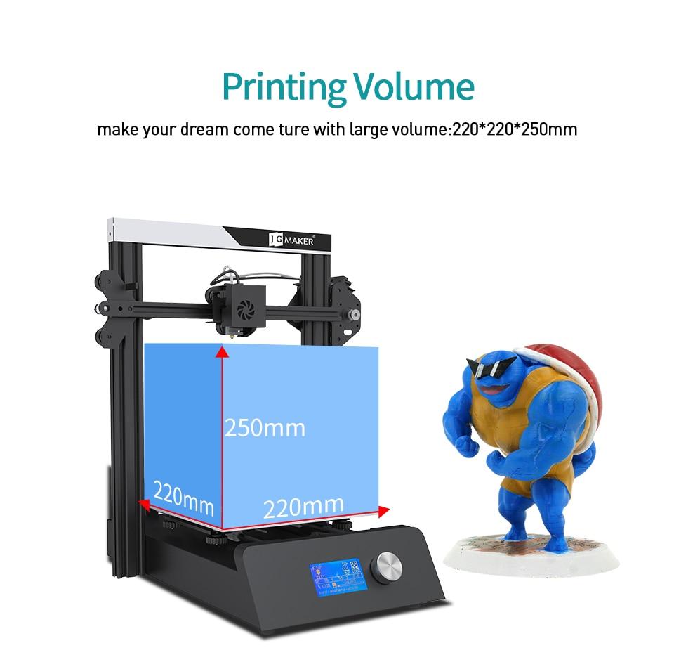 JG Magic 3D Printer Aluminium Frame Large Print Size