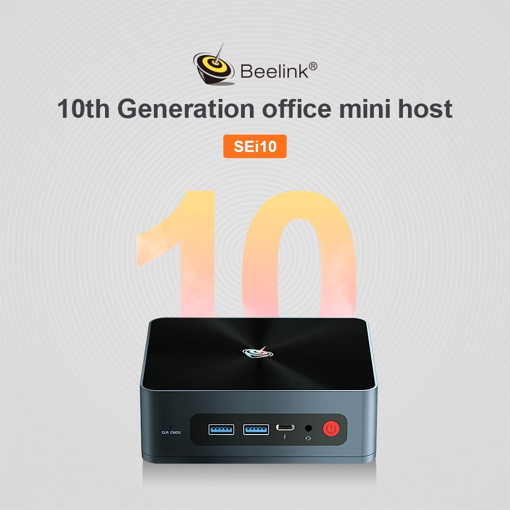 Mini PC BEELINK SEi10 8GB 512GB Intel Ice Windows 10 TV BOX