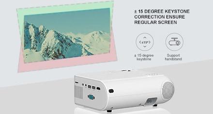 Salange P62 Mini Projector 4000 Lumens, 1920x1080P Display