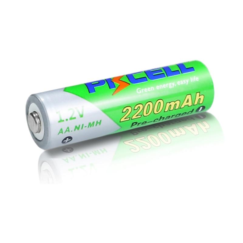 2/4Pcs 1.2V 2200mAh AA Rechargeable Batteries