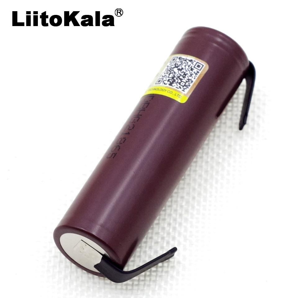 Liitokala HG2 18650 3000mAh battery 3.6V discharge 20A