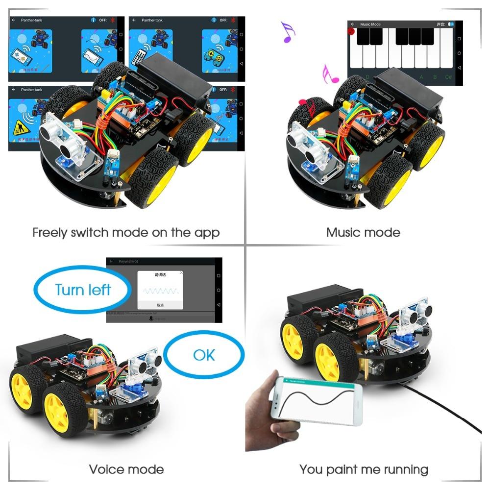 Emakefun Arduino Robot 4WD Cars Remote Control Robot