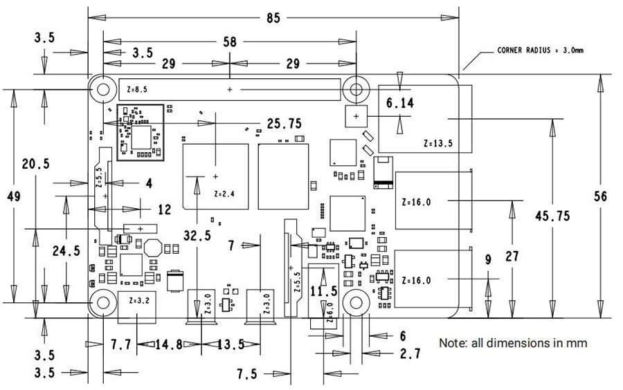Raspberry Pi 4 Model B 8GB RAM Quad core Cortex-A72 ARM v8 1.5GHz