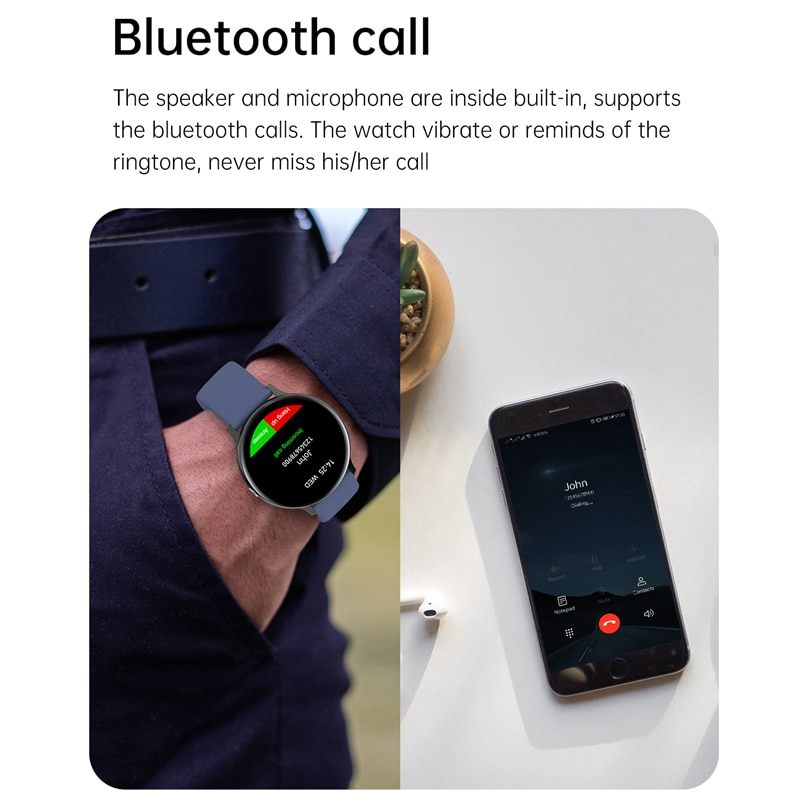 Call Smart Watch With Full Touch Fitness Tracker Blood Pressure