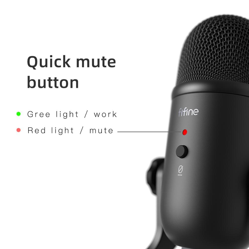 USB professional microphone for Recording Streaming & Gaming