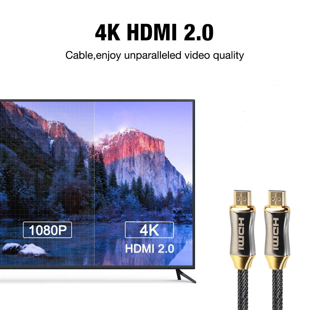 From 0.5M to 20M 4K 60Hz HDMI To HDMI Golden Plated Connection Cable High Speed 2.0
