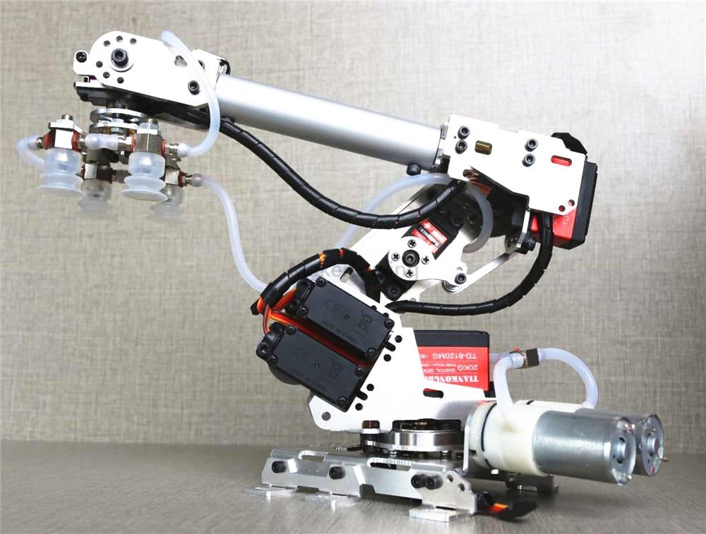 6DoF six axis air pump mechanical aluminum arm alloy industrial robot